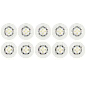 Lot 10 spots LED fixes à encastrer (4.2 W) - Blanc