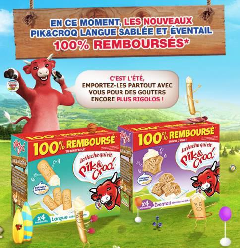 La Vache Qui Rit Pik & Croq' 100% remboursé