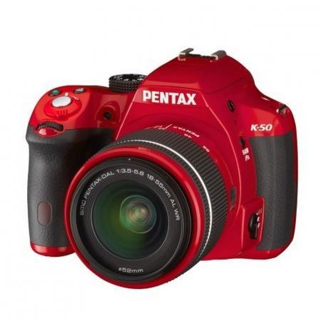 Reflex Pentax K50 Rouge + Objectif DAL 18-55 mm WR