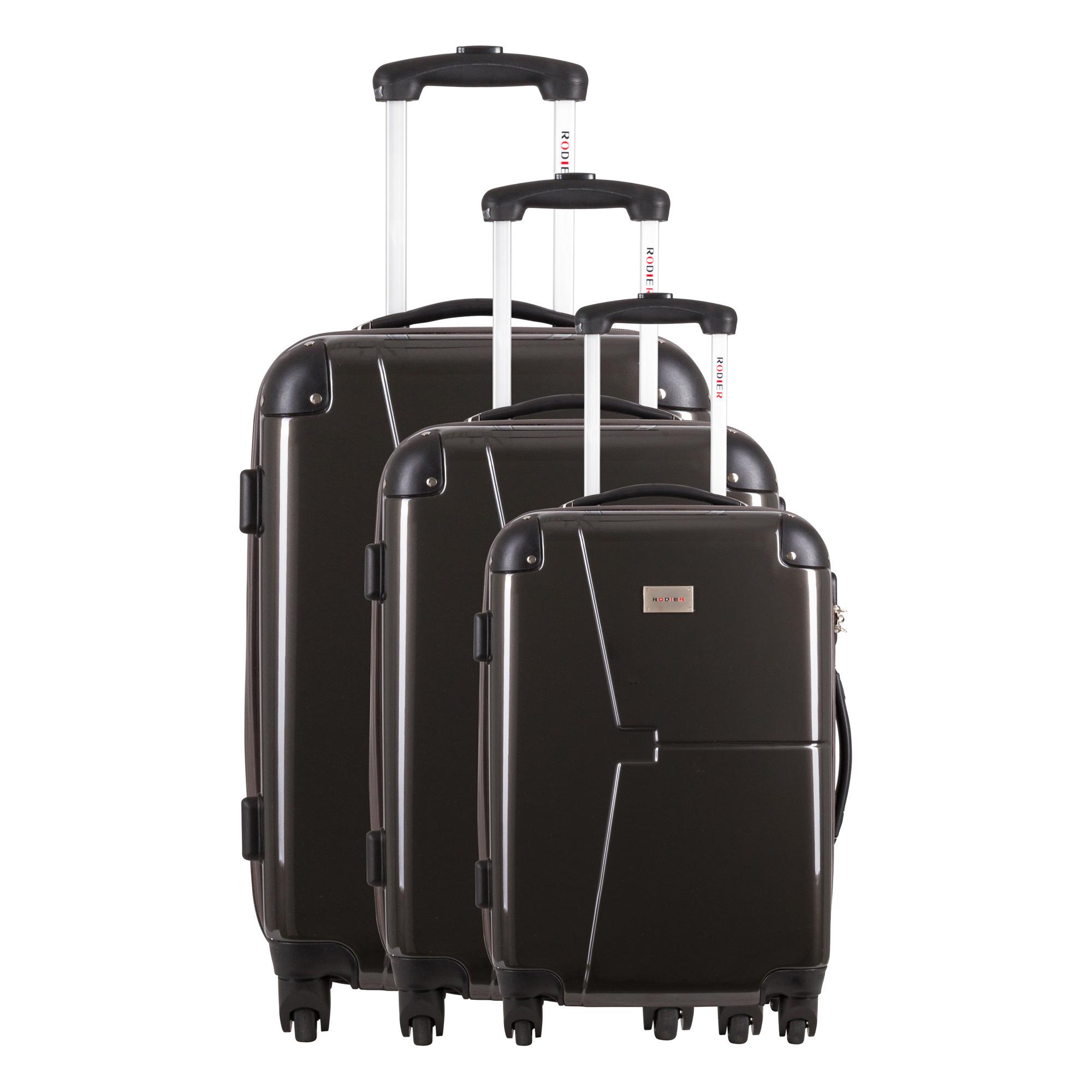 Set de 3 valises rigides 4 roues Nisyros gris H