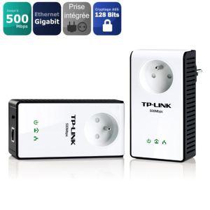 2 adaptateurs  CPL TP-Link 500Mbps avec port Gigabit
