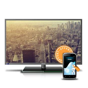 """TV LED 40"""" Haier LE40B650CF - Full HD + Smartphone Haier W716 offert"""