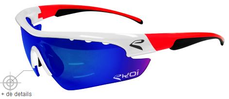 50% de réduction sur les lunettes cyclisme Ekoi Multistrata configurable sur mesure (tour de france)