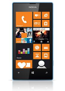 Smartphone Nokia Lumia 520 bleu, noir ou rouge (Avec ODR de 30€)