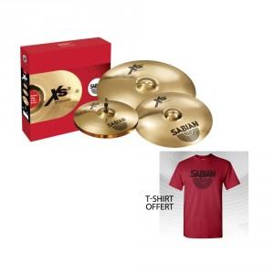 Pack de cymbale Sabian XS20 Perfomance + T-SHIRT offert (M)