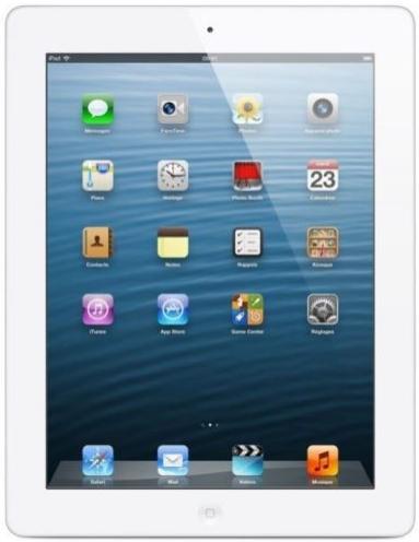 Apple ipad 4 retina blanc - wifi 16 go (+ 100€ en 3 bons d'achats)