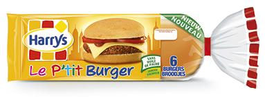 Lot de 2 paquets Le P'tit burger Harrys et gain de 0,46€