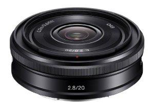 Objectif Sony SEL-20F28.AE séries Alpha NEX - 20mm grand angle F2.8 Noir (avec ODR de 30€)