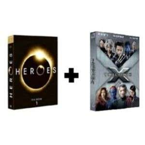 Lot de 2 Coffrets DVD : Heroes Saison 1 + Trilogie X-Men