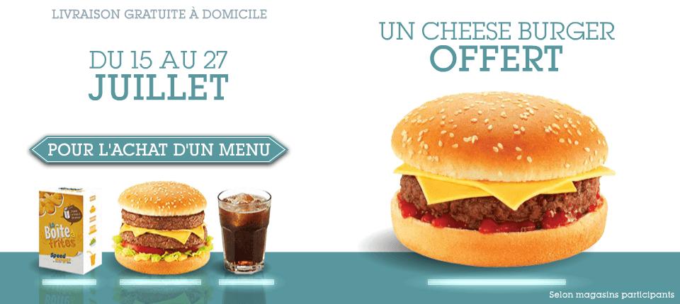 1 Menu acheté = 1 cheese offert