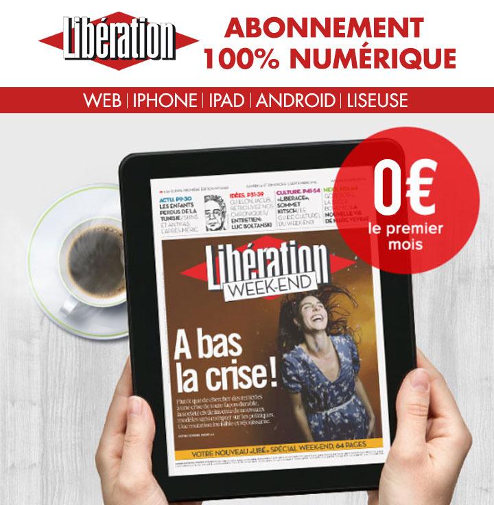 Journal Numérique Libération 1 mois offert