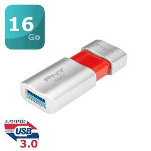 Clé USB3.0 PNY Wave Attaché 16 Go