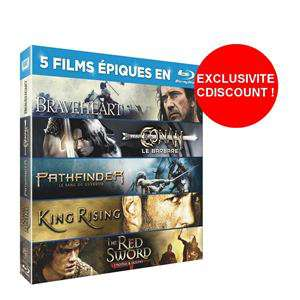 Coffret 5 Blu-Ray Epiques - Braveheart + Conan Le Barbare + Pathfinder + King Rising + Red Sword