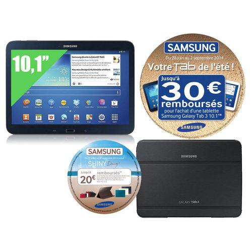 """Tablette Samsung Galaxy Tab 3 10.1"""" 16 Go + Etui (ODR 50€)"""