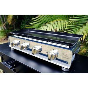 Plancha INOX 4 brûleurs à poser - Puissance 10 kW