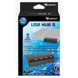 Hub USB 3.0 5 ports (conçu pour la PS4)