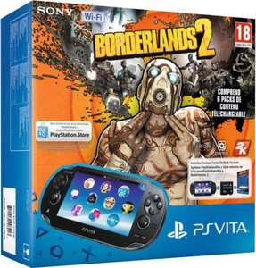 Pack PS Vita WiFi + Borderlands 2 + Carte mémoire 4 Go + 1 jeu au choix (Killzone, Tearaway...)