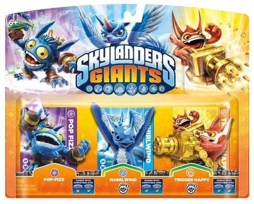 Figurine Skylanders : Giants - Pop Fizz + Trigger Happy + Whirlwind