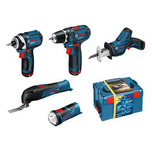 Kit complet 5 outils sans fil Bosch 10,8 V - 0615990EX4