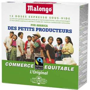 Lot de 3 paquets de café des petits producteurs Malongo
