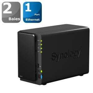 """Boitier NAS Synology  DS214 2 Baies + code """"velo15"""""""