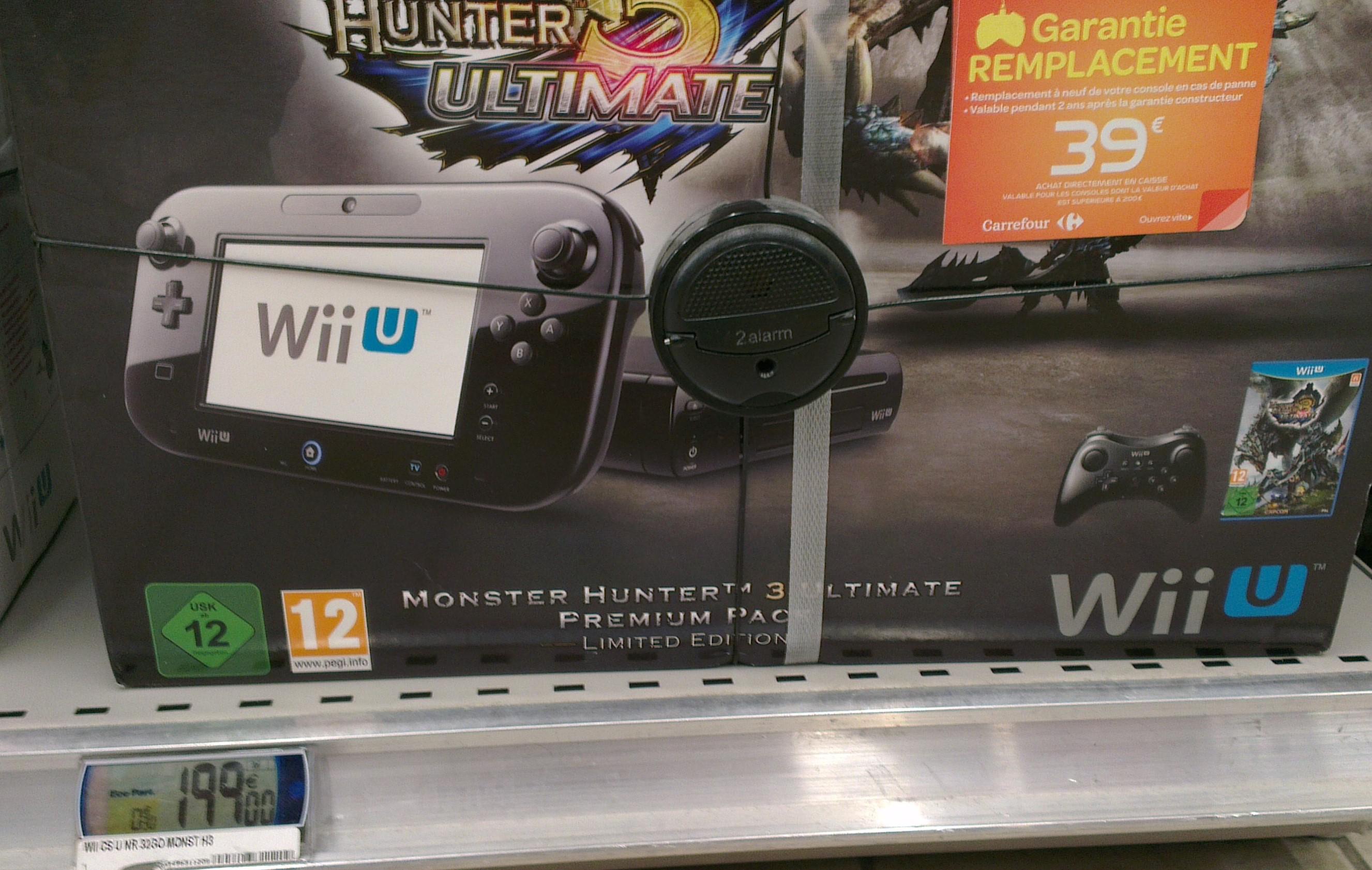 Console Wii U 32Go Pack Monster Hunter Ultimate Noir