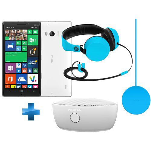 Smartphone Nokia Lumia 930 + Casque Coloud WH-530 + Enceinte Bluetooth MD12 + Chargeur sans fil DT 601