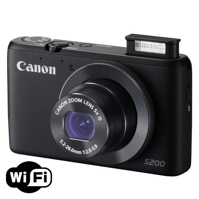 Appareil photo Compact Canon Powershot S200 noir