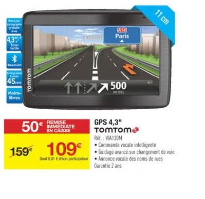 GPS TomTom Via 130M CAV Europe 45