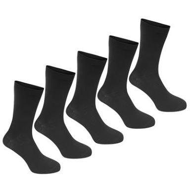 5 paires de chaussettes noires classiques Propeller (taille 41-46)