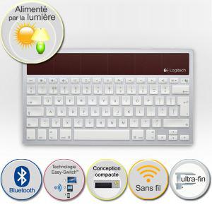 Clavier sans fil solaire Bluetooth Logitech K760 pour Mac