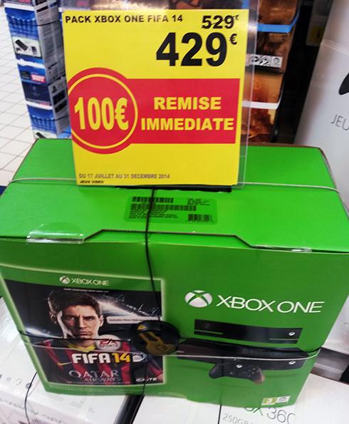 Console Xbox One + FIFA 14 + Kinect