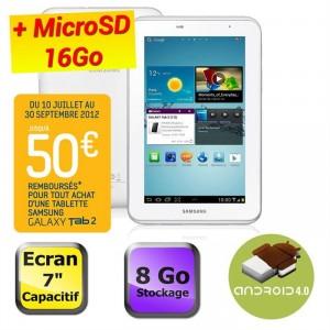 """Samsung Galaxy Tab 2 7"""" Wifi 8 Go + MicroSD 16Go"""
