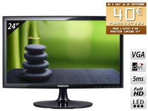 """Offre de remboursement sur les écrans samsung - Ex : Ecran PC 24"""" LED 5ms Full HD"""