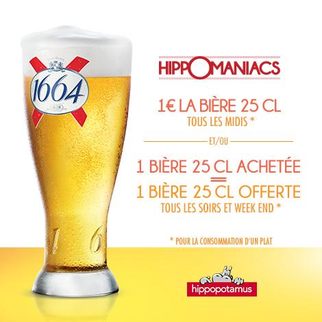 Bière 25cl tous les midi chez Hypopotamus