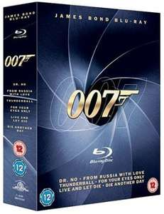 Coffret 6 Blu-Rays James Bond 007 (Import Anglais)