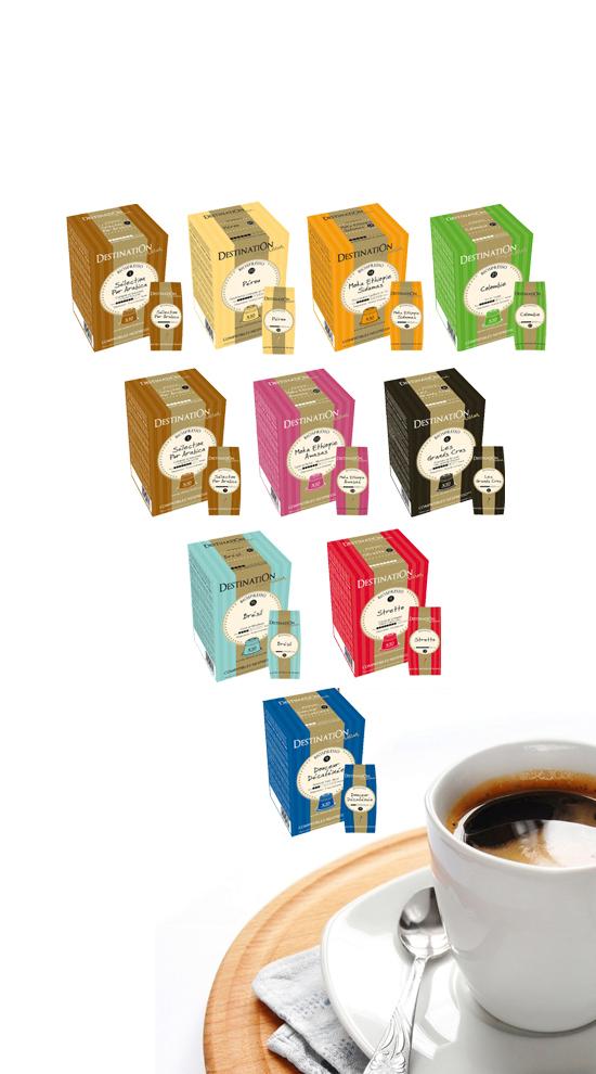Pack de 100 capsules compatibles Nespresso Destination Premium