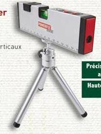 Sélection d'outils bricolage - Ex : Niveau à bulle & laser