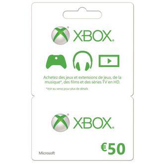 Carte cadeau Xbox Live d'une valeur de 50€