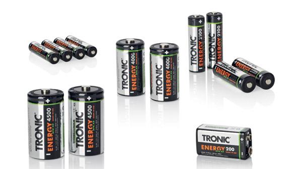 Piles rechargeables Tronic NI-MH (plusieurs modèles)