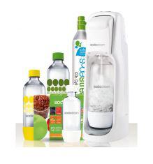 Machine à soda gazéificateur d'eau Sodastream Jet Plus Blanche Mega Pack