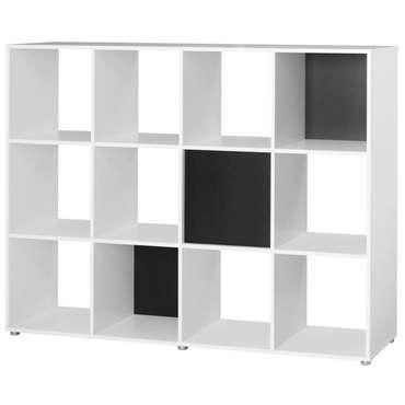 Bibliothèque Pegasus coloris noir et blanc