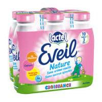 Pack 6 x 1L Lactel Eveil au lait entier ou Bio