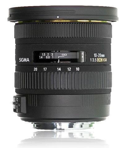 Objectif grand angle pour Nikon : Sigma 10-20mm F4-5.6 DC EX