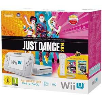 Console Nintendo Wii U 8 Go Blanche + Wiimote + Just Dance 2014 + Nintendo Land