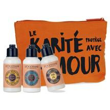Sélection de trousses estivales à -50% - Ex : Trousse colorée Karité orange