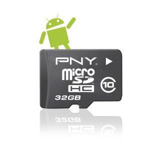 Sélection de cartes MicroSD en promo - Ex :  Carte SD 32 Go PNY Android classe 10 + Adaptateur