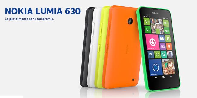 Smartphone Nokia Lumia 630 - Plusieurs coloris