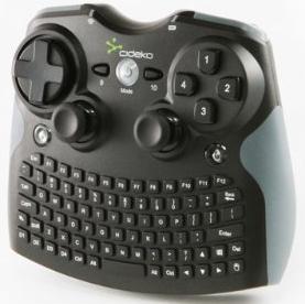 Mini clavier souris manette sans fil Cideko AK10 compatible PC/PS3