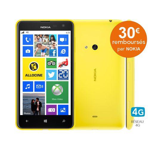 Smartphone Nokia Lumia 625 Noir, Blanc,Vert, Orange ou Jaune (30€ ODR)